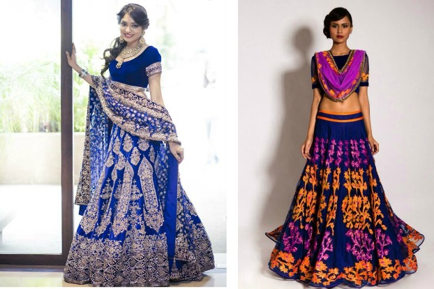 Fashion Inspiration: Blue Lehengas