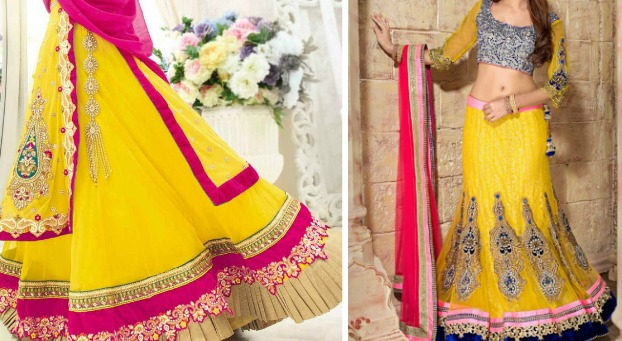 Outfit Inspiration: Citrus Coloured Bridal Lehengas