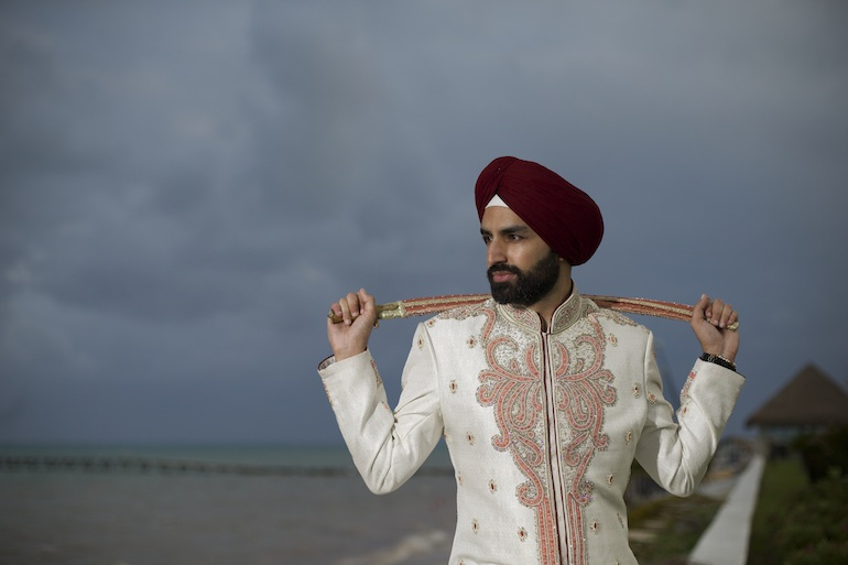 12 Sikh Indian Wedding beach portrait copy