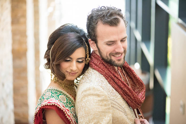 9a indian wedding couple