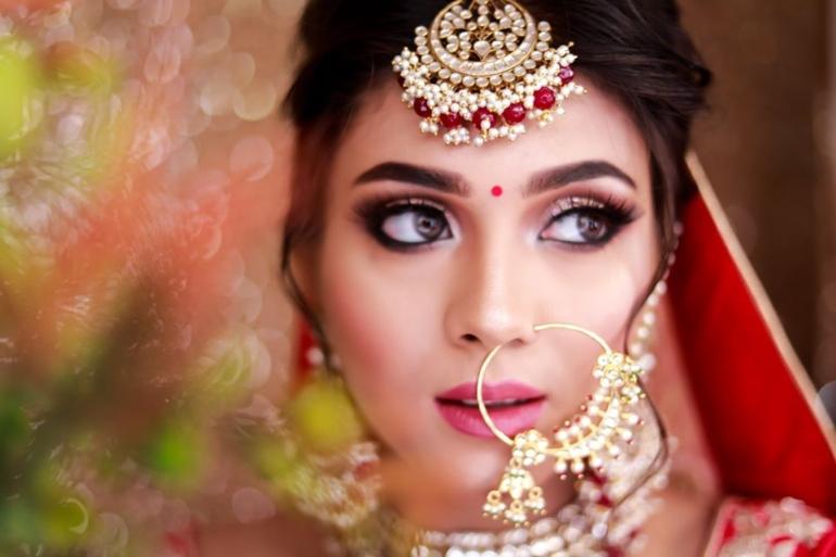 indian bridal beauty