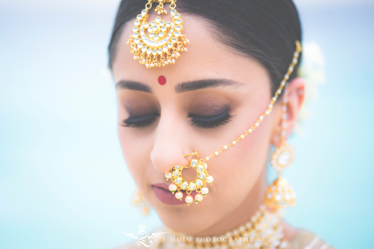 indian bridal portrait