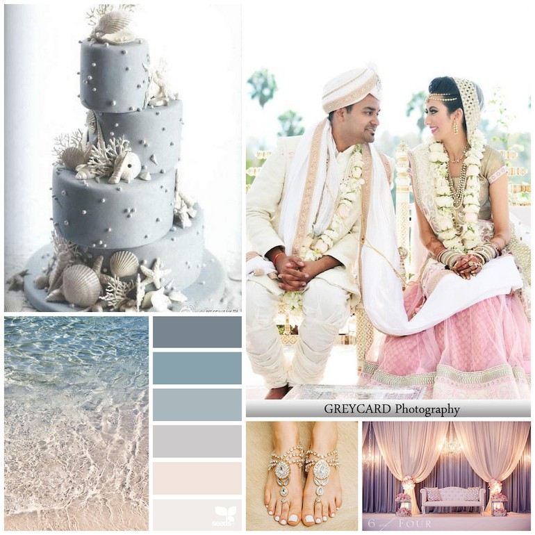 Indian Wedding Beach Color Inspiration Board