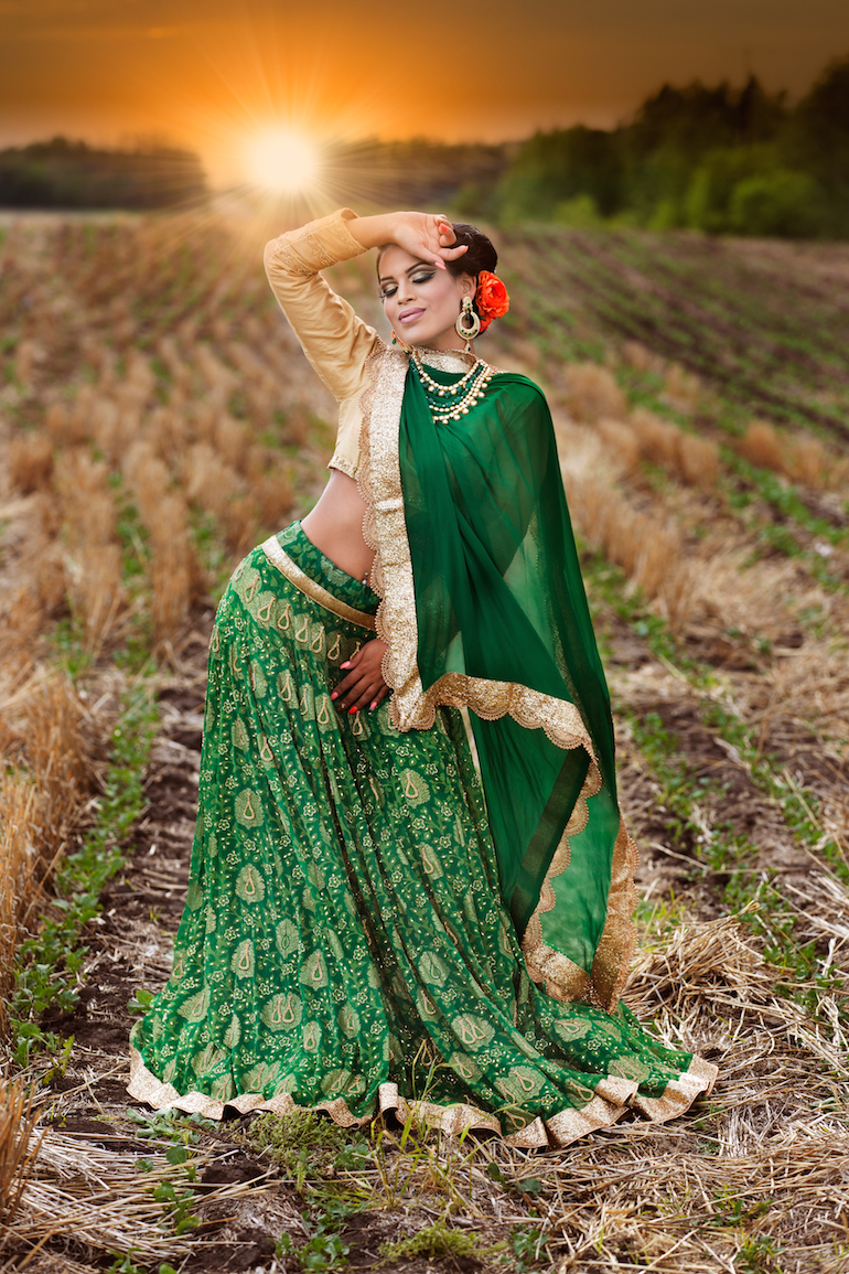 indian wedding outdoor portrait