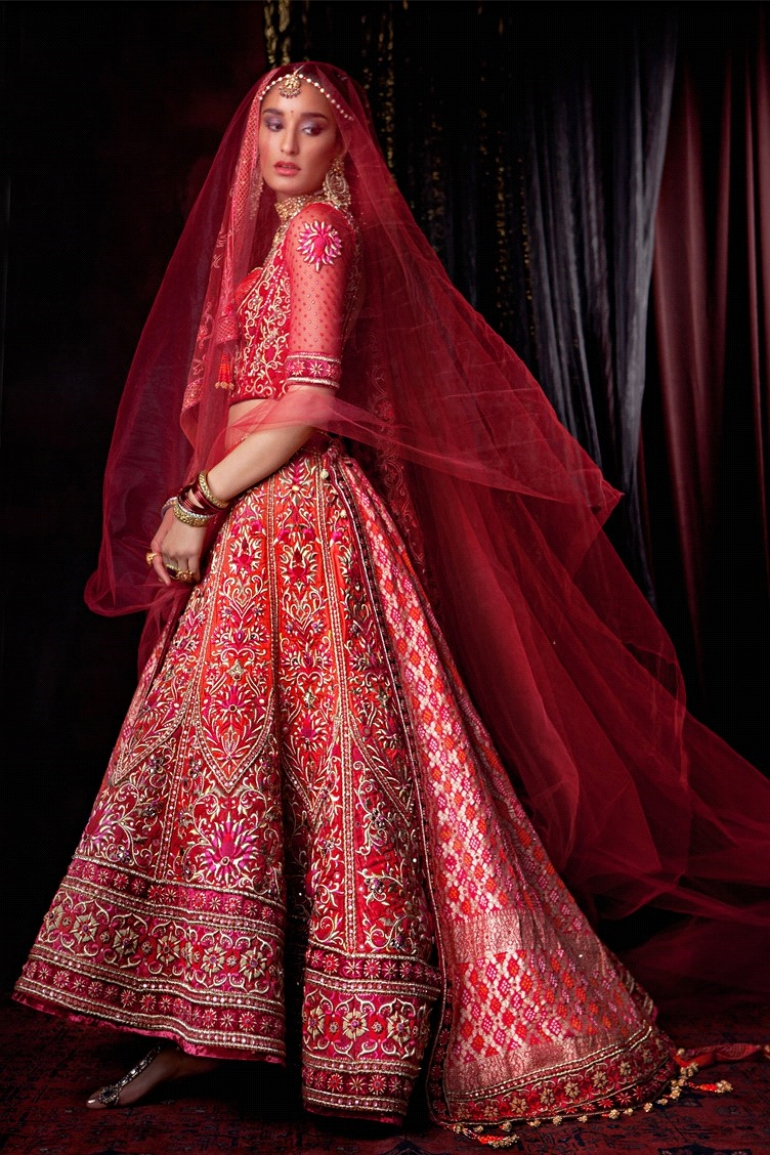 Lehenga With A Trail