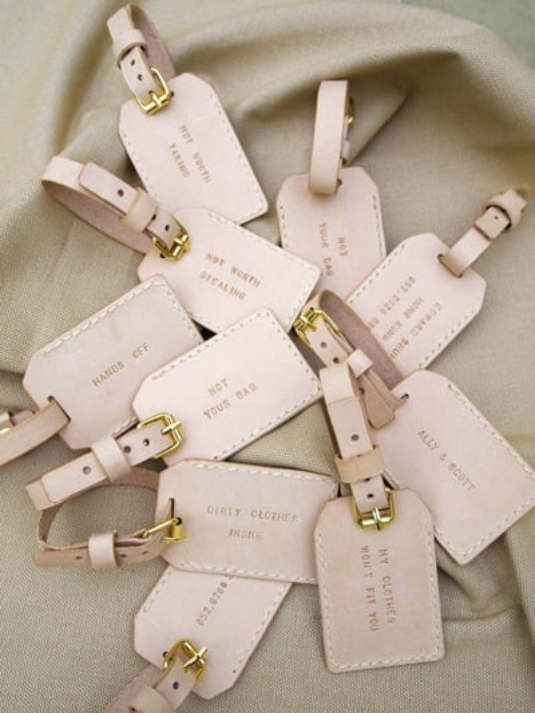 luggage tags- brides.com