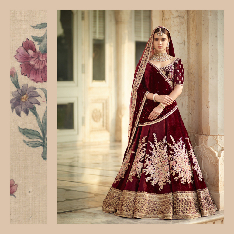 b208e1d789 The latest Indian bridal collection is based on broad themes called 'Devi',  'Gulkand' and 'Minimalist-Maximalist'.