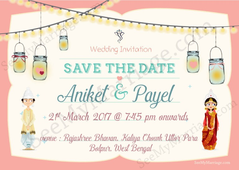 WhatsApp Wedding Invitations are a great way to save budget while getting personalised themes and designs.