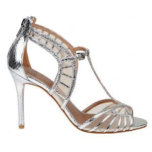 Badgley Mischka Metallic High Heel Indian Wedding Shoes
