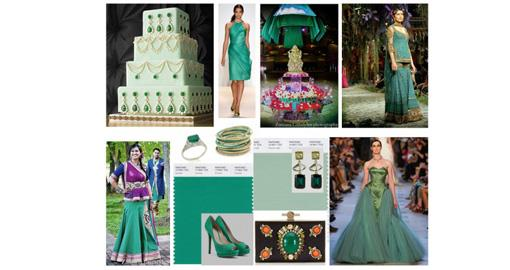 Indian Wedding Color Inspiration- Emerald and Jade