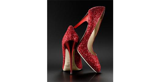 Tuesday Shoesday - Indian Wedding Red Glitter Pumps