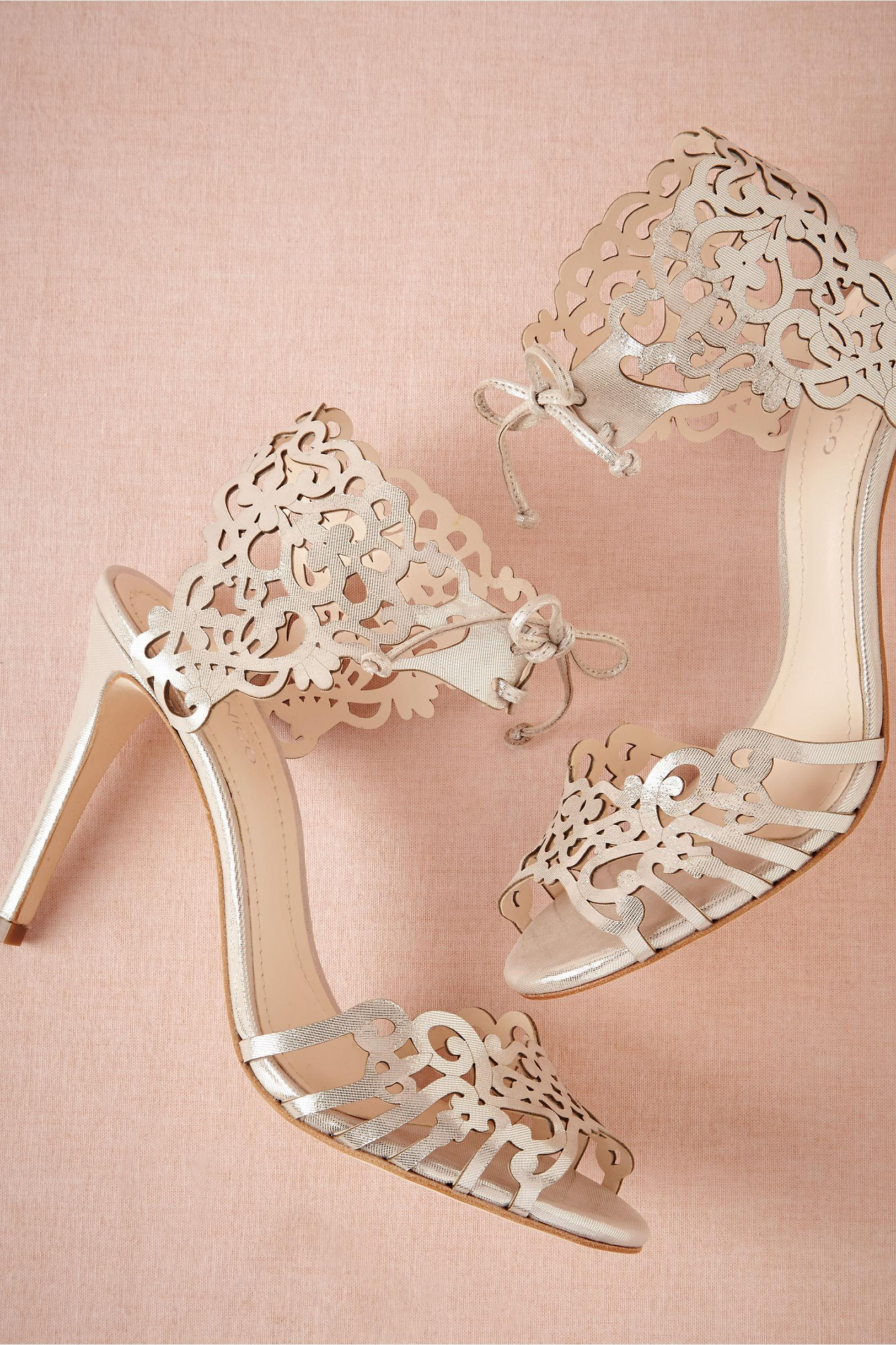 Klub Nico Laser Cut Ankle Tie Wedding Shoe