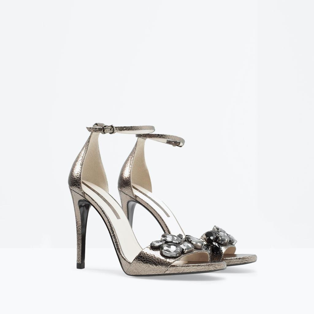 Zara Metallic Leather Indian Wedding Shoes