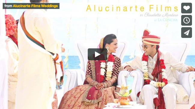 Destination Puerto Rico Indian Wedding Video by Alucinarte Films