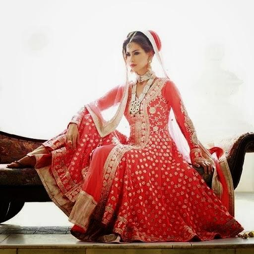 lashkaraa red bridal anarkali