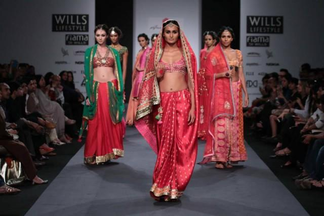Anupamaa by Anupama Dayal at Wills Lifestyle India Fashion Week 2014 lehngas saris