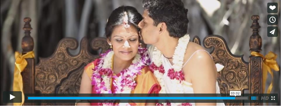 Hawaii South Indian Wedding Video by Bright Sky Wedding Designs