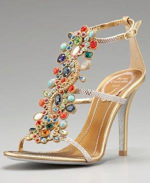 gold jeweled wedding shoes