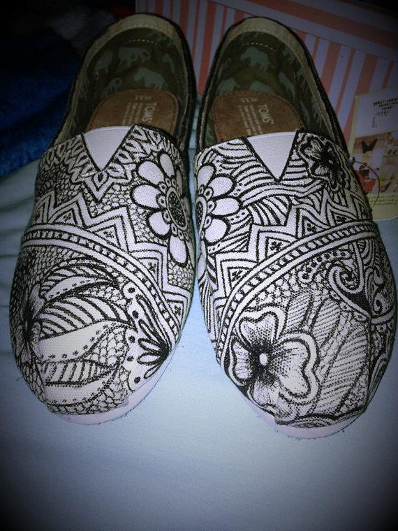 Henna Mehndi Inspired Toms Indian Wedding Shoes