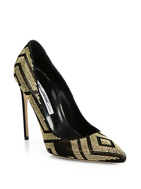 brian atwood black and gold indian wedding shoes