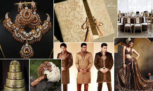 Brown and Gold Indian Inspiration by Shaadiesque