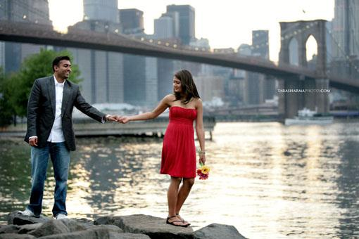Bryant Park + Brooklyn Bridge Indian E-Session by Tara Sharma
