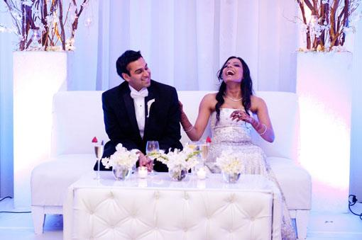 Chic and Modern New Jersey Indian Reception