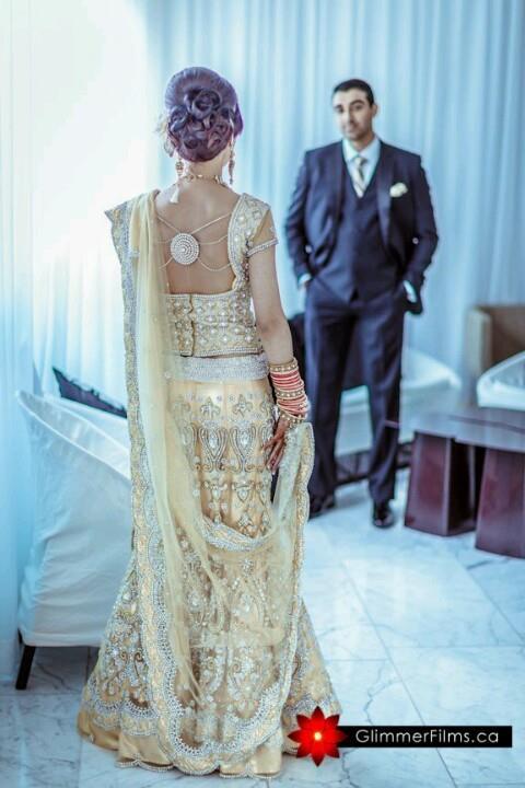 Crystal Design Back of Indian Wedding Blouse