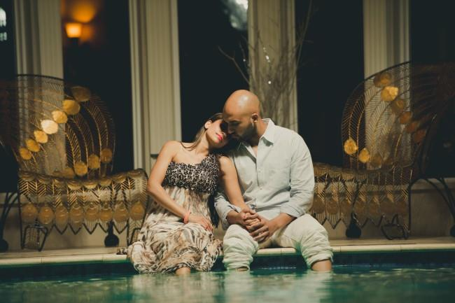 11 indian feet in pool engagement shoot