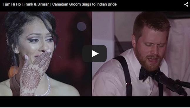 Groom Serenades His Indian Bride During Their Wedding Reception