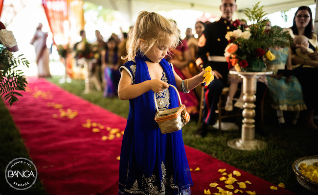 7a indian wedding flower girl