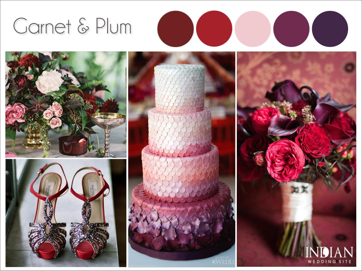 Garnet Plum Indian Wedding Colo Palette