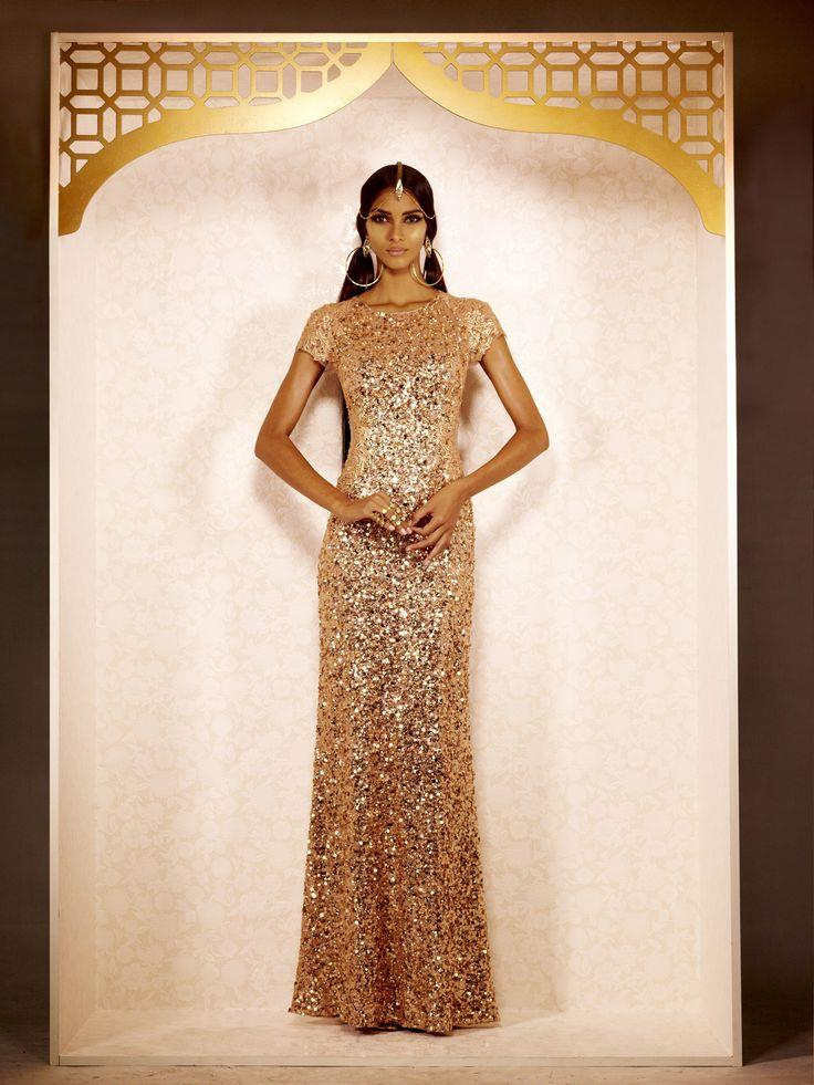 Gold silver and sparkling champagne indian wedding ideas for Www indian wedding dress