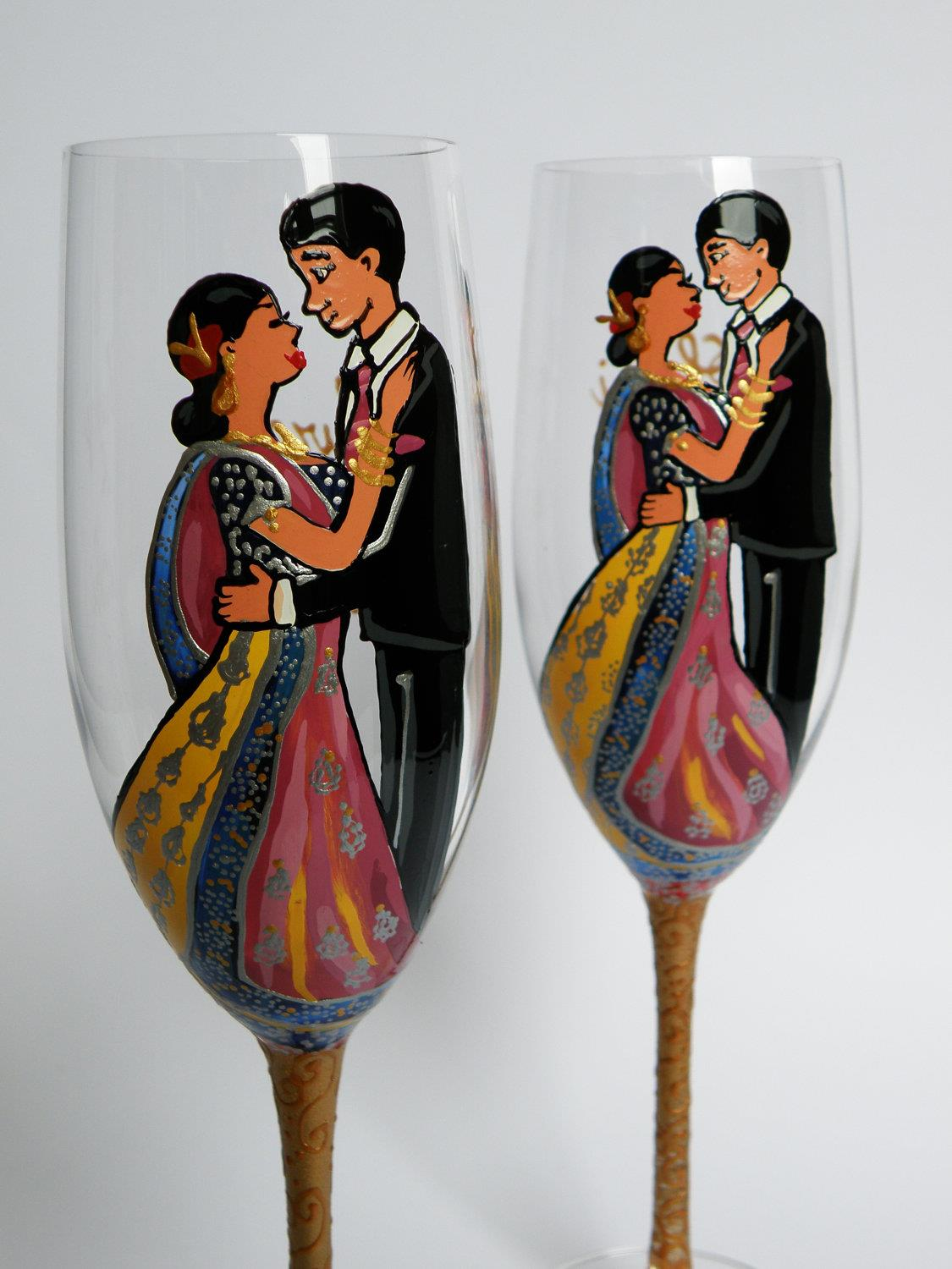 Shaadi Love: Indian Toasting Glasses