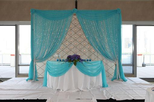 Heavenly Blue and White Indian Wedding Reception
