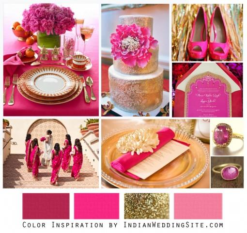 Hot Pink and Gold - Indian Wedding Color Inspiration