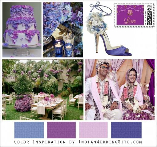Purple and Blue Hydrangeas - Indian Wedding Color Inspiration