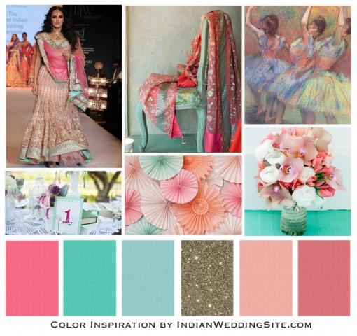 Impressionist Painting Palette - Indian Wedding Color Inspiration