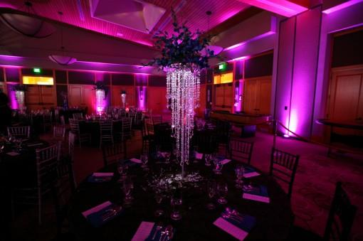 Indian Reception with Crystals and Purple Lighting by iDesign Events