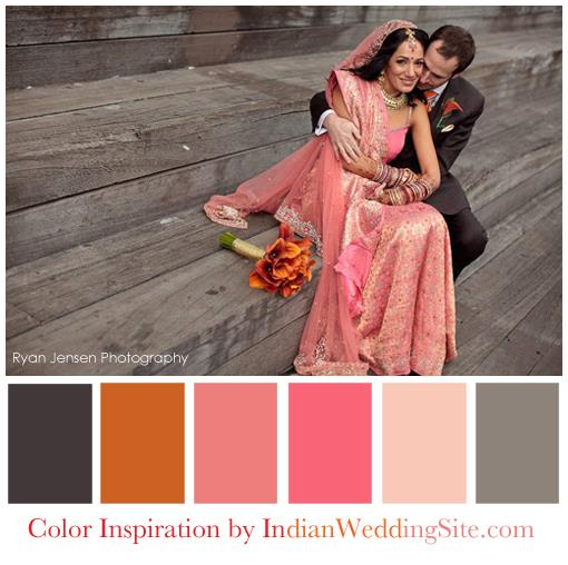 Coral-Gray-Pink-Indian-Wedding-Palette