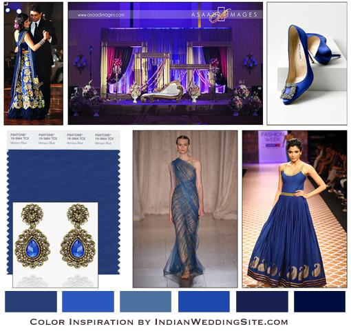Indian Wedding Color Inspiration- Monaco Blue