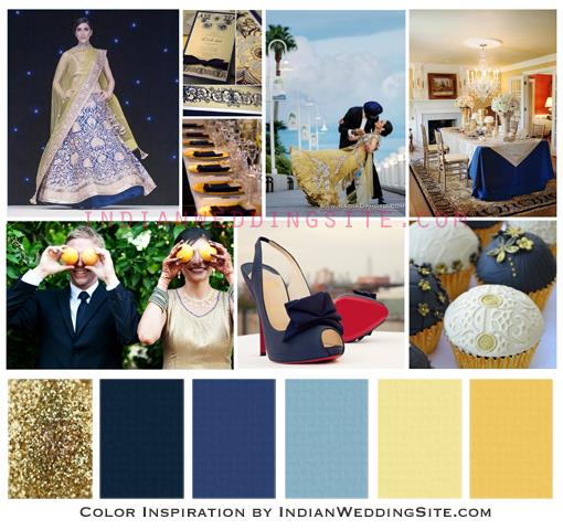 Indian Wedding Color Inspiration - Navy Blue, Butter ...