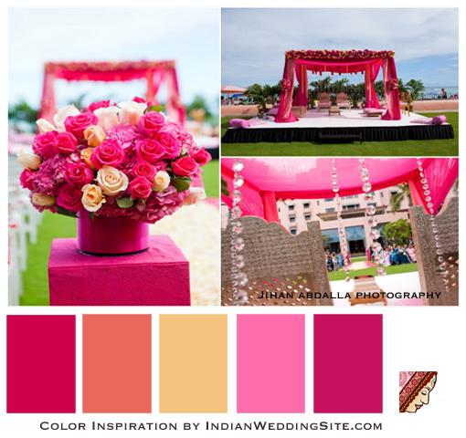 Indian Wedding Color Inspiration- Paradise in Pink