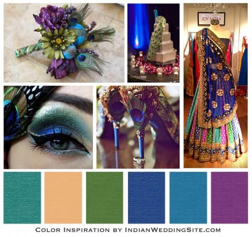 Indian Wedding Color Inspiration - Peacock Wedding Reception