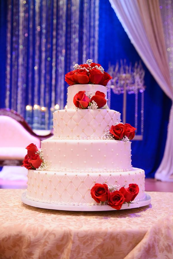 12a indina wedding 4 tier white cake