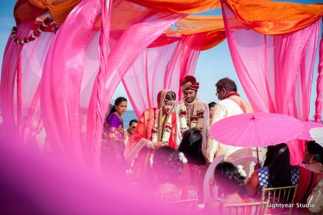 Hindu outdoor wedding ceremony