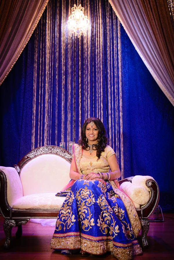 7a indian wedding blue staging