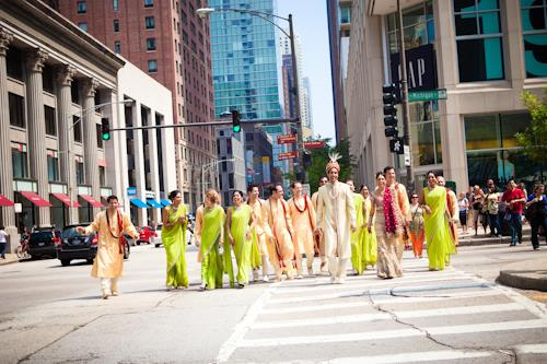 Indian Wedding Portraits and Bridesmaids in Saris