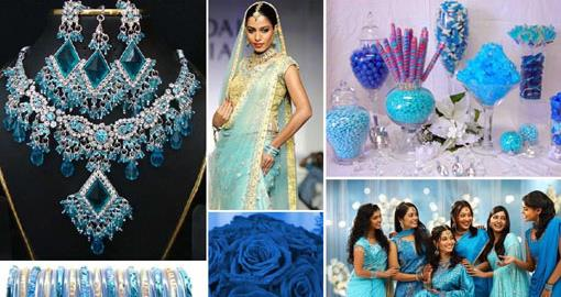 Inspiration Board: Blue and Crystal Winter Wedding