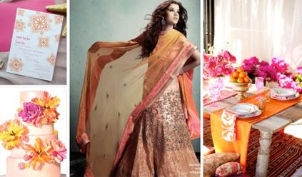 Mango, Marigold and Fuchsia - Indian Wedding Color Inspiration